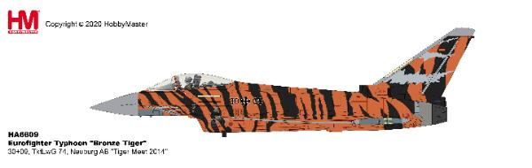 "EF-2000 Typhoon Die Cast Model TktLwG 74, Neuburg AB ""Tiger Meet 2014"" (1:72)"